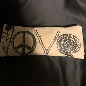 Handmade LOVE Pillow. Suade Front